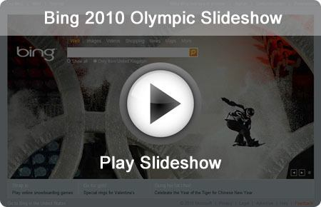 Bing 2010 Winter Olympics Slideshow