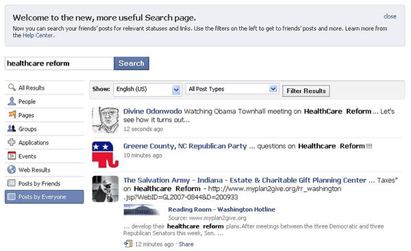how to search news feed on facebook on cellphone