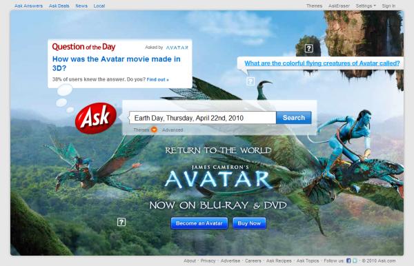 Ask.com Earth Day Interactive Box #2