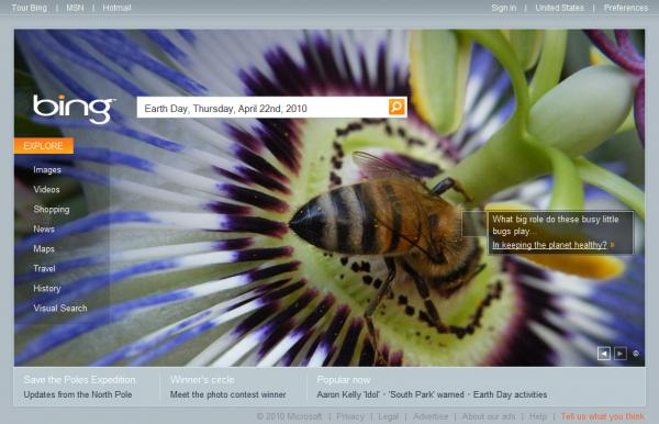 Bing.com Earth Day Interactive Box #4