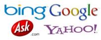 Google.com Yahoo.com Bing.com Ask.com Logos