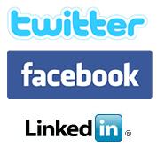 Twitter.com Facebook.com LinkedIn.com Logos