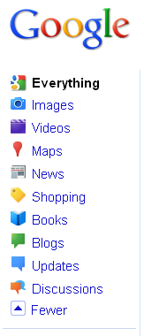 Google Search Options Navigation