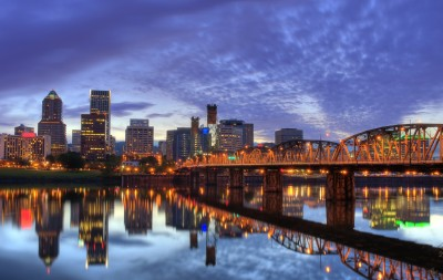 Downtown Portland & the Hawthorne Bridge