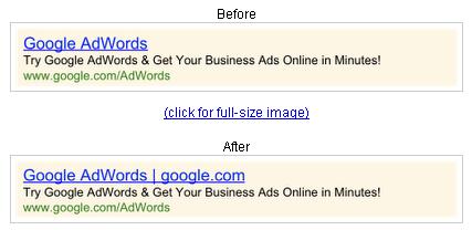 Google AdWords Display URLs Showing in Headlines