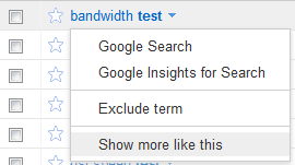 Google AdWords Keyword Tool Option: Show More Like This