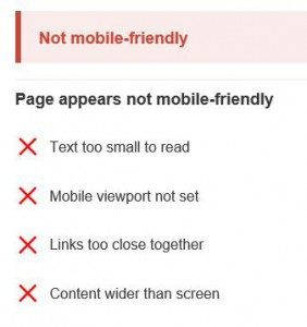 Your site is not mobile friendly...