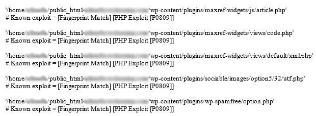 Host Scan for PHP Exploits in WordPress