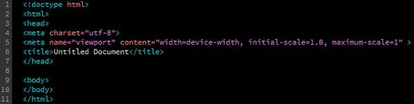 Blank HTML Template