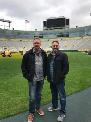James and Chris at Lambeau Field