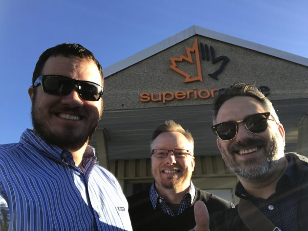 A stop at Superior Glove's headquarters.
