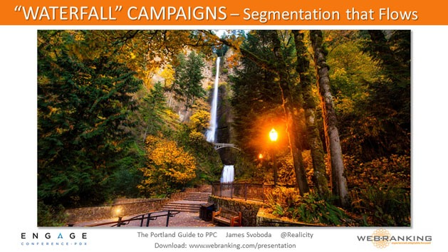 Waterfall Campaigns - Segmentation that Flows, Multnomah Falls