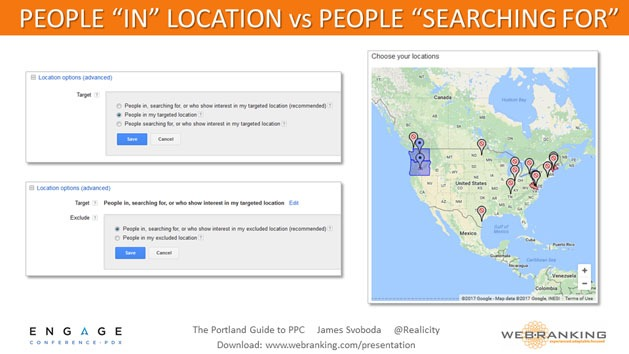 People In Location vs. People Searching For