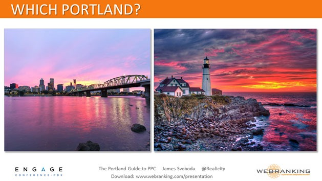 Which Portland, Oregon or Maine