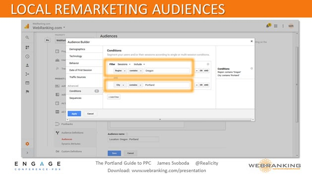 Local Remarketing Audiences