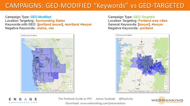 Campaigns - Geo-Modified Keywords vs Geo-Targeted
