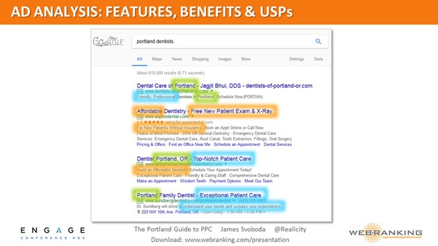Ad Analysis - Features, Benefits, and USPs