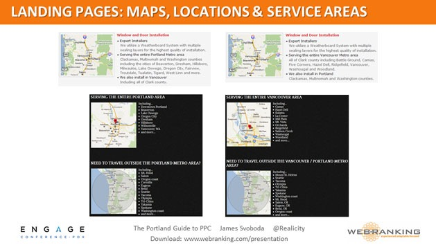 Landing Pages: Maps, Locations & Service Areas