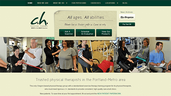c.h. Physical Therapy in Portland Oregon