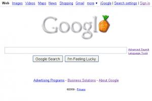 Google's Halloween Themed Homepage 2009
