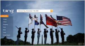Bing.com Homepage - Veteran's Day, November 11th, 2009