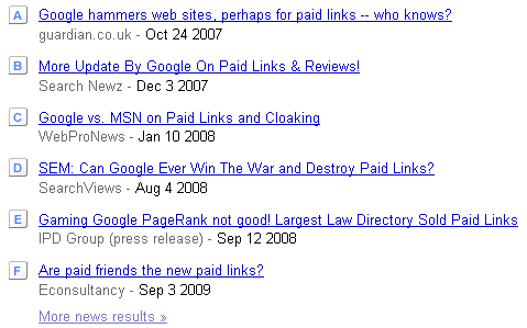 Google Trends Paid Links Headlines
