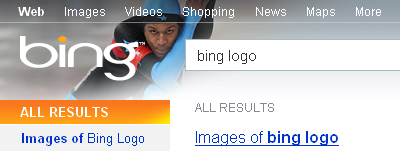 Bing Logo in SERP's