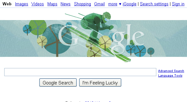 Google Homepage for Today - 02/19/2010