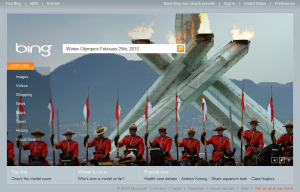 Bing Winter Olympics Homepage - February 25th 2010