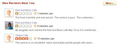Front Page Reviews of the Red & Black Cafe