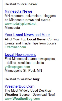 Segmentation for Keyword Local Weather