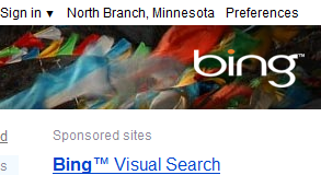 Testing Bing Logo on Right Side