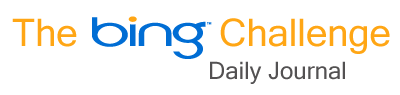 The Bing Challenge Daily Journal Week 2 Search Tools, Features and Options - Narrow By Date