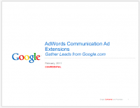 Confidential Google AdWords Communication Ad Extensions - Gather Leads from Google.com