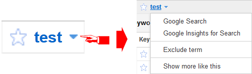 New Keyword Level Drop Down Menu in AdWords Keyword Tool