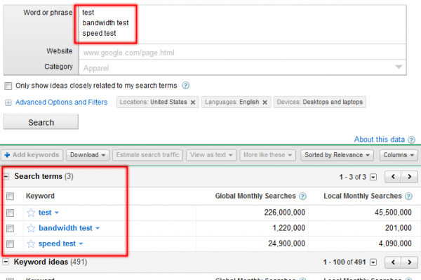 AdWords More Like These New Option
