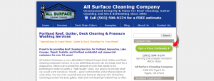 All Surface Cleaning Website