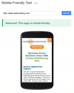 WebRanking.com Mobile Friendly Test