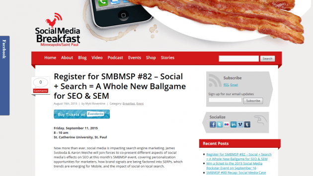 SMBMSP #82 - Social + Search = A Whole New Ballgame for SEO & SEM