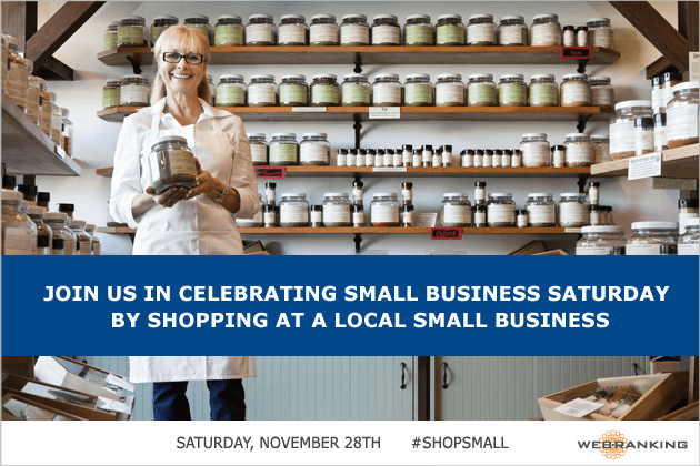 Join Us in supporting and celebrating local Small Businesses on Small Business Saturday!