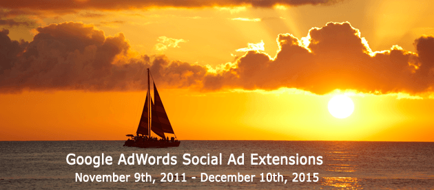 Google AdWords Social Ad Extensions 2011 to 2015