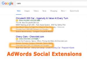 Google AdWords Social Ad Extensions