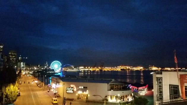 Seattle Waterfront at Night, June 2016