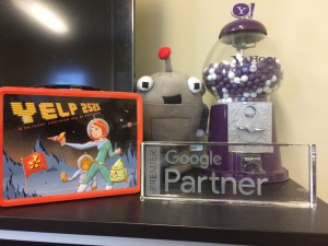 """Our Google """"Trophy"""" in our PDX Headquarters"""