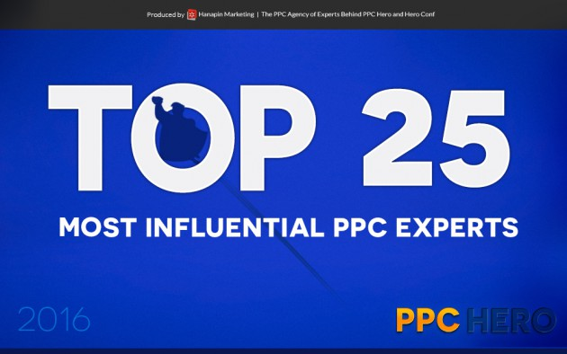 Top 25 Most Influential PPC Experts in 2016