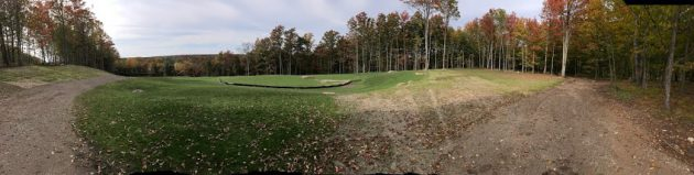 "An ""in progress"" shot of Sage Run Golf Course"
