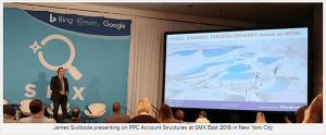 James Speaking at SMX East