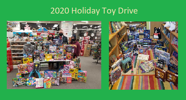 2020 WebRanking Toy Drive, green banner style
