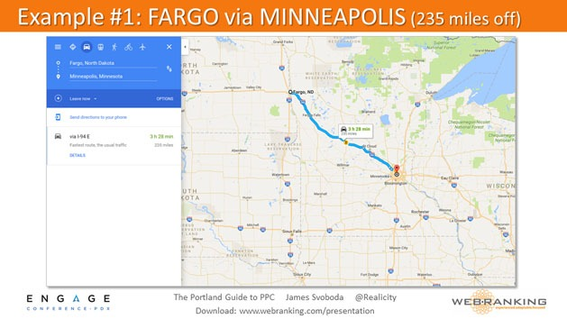 Example - Fargo vs Minneapolis