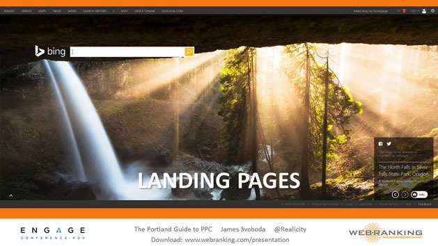 Landing Pages, Silver Falls